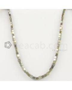 2.50 to 3.70 mm - Medium Tones Diamond Cube Beads - 7.625 inches - 26.00 carats (FncyDiaCu1037)