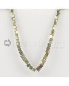 2.60 to 3.50 mm - Medium Tones Diamond Cube Beads - 5.125 inches - 17.00 carats (FncyDiaCu1043)