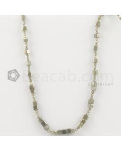 2.40 to 5.00 mm - Medium Tones Diamond Cube Beads - 10.75 inches - 40.00 carats (FncyDiaCu1045)