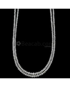 1.90 to 3 mm - Medium Gray White Diamond Faceted Beads - 36.00 carats (WDia1038)