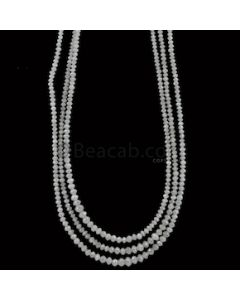 1.90 to 3 mm - Medium Gray White Diamond Faceted Beads - 53.50 carats (WDia1039)
