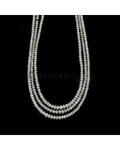 1.80 to 3.50 mm - Medium Gray White Diamond Faceted Beads - 54.50 carats (WDia1040)