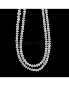 3.50 to 4.50 mm - Medium Gray White Diamond Faceted Beads - 100.50 carats (WDia1041)