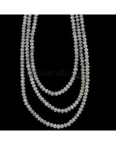 2.70 to 3.50 mm - Medium Gray White Diamond Faceted Beads - 99.00 carats (WDia1042)