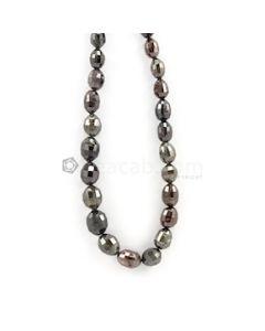 6 to 11 mm - Dark Tones Fancy Diamond Drum Beads - 144.00 carats (FncyDiaDr1019)