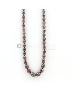 5 to 9 mm - Dark Maroon Fancy Diamond Drum Beads - 78.00 carats (FncyDiaDr1020)-OOS