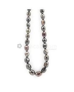 6 to 10 mm - Dark Tones Fancy Diamond Drum Beads - 151.90 carats (FncyDiaDr1022)