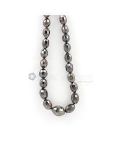 6 x 5 to 13 x 10 mm - Dark Tones Fancy Diamond Drum Beads - 161.78 carats (FncyDiaDr1025)