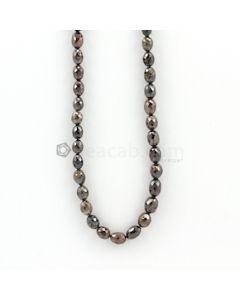 6 to 8.50 mm - Dark Tones Fancy Diamond Drum Beads - 108.50 carats (FncyDiaDr1031)