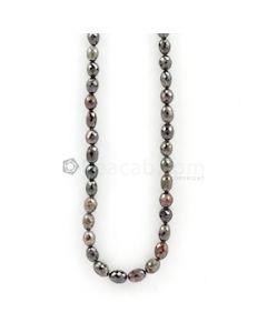 5 to 8 mm - Dark Tones Fancy Diamond Drum Beads - 107.50 carats (FncyDiaDr1032)