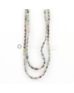 4.50 to 7 mm - Light Tones Fancy Diamond Drum Beads - 85.50 carats (FncyDiaDr1035)