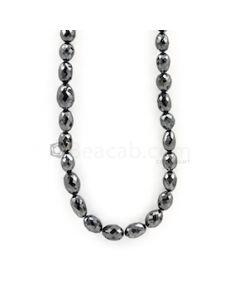 6.50 to 9.50 mm - Black Diamond Drum Beads - 109.00 carats (BDiaDrm1005)