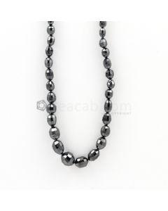 6 x 4 to 9 x 7 mm - Black Diamond Drum Beads - 88.23 carats (BDiaDrm1008)