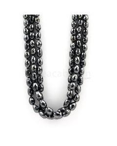 5 to 10 mm - Black Diamond Drum Beads - 305.58 carats (BDiaDrm1009)