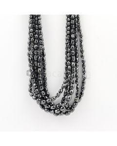 3.70 to 7 mm - Black Diamond Drum Beads - 213.00 carats (BDiaDrm1010)