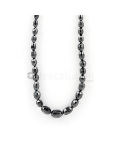 6 x 4 to 9 x 8 mm - Black Diamond Drum Beads - 87.22 carats (BDiaDrm1012)