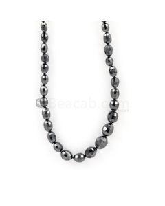 6 x 4 to 9 x 7 mm - Black Diamond Drum Beads - 85.71 carats (BDiaDrm1014)