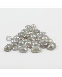 4.20 x 3.5 0 mm to 10.50 x 7.30 mm - Medium Gray Cushion Shaped Rose Cut Diamond  - 35.42 carats (FncyDiaRC1094)