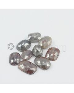 7.50 x 6 mm to 11.50 x 7.50 mm - Medium Tones Cushion Shaped Rose Cut Diamond  - 16.64 carats (FncyDiaRC1111)