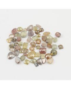 3.90 x 3.90 to 10.30 x 7.50 mm - Medium Tones Mix Shaped Rose Cut Diamond  - 41.64 carats (FncyDiaRC1142)