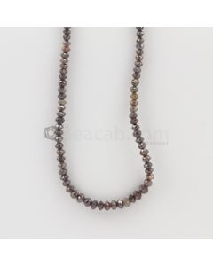2.40 to 4.20 mm - Dark Brown Diamond Faceted Beads - 45.16 carats (FncyDia1012)