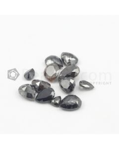 5.50 x 4.50 mm to 9.20 x 7.70 mm - Dark Tones Pear Shaped Diamond Cut Stones Diamond  - 16.09 carats (FDCS1003)