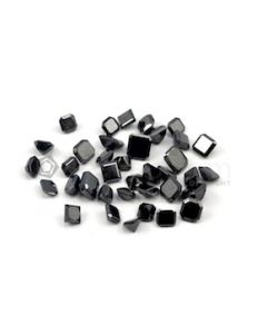 4.80 x 4.50 mm to 6.90 x 6 mm - Black Square Shaped Diamond Cut Stones Diamond  - 28.89 carats (FDCS1015)