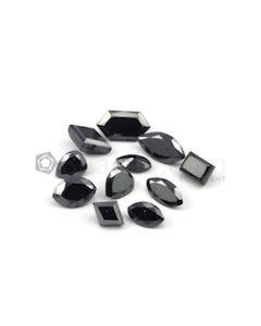 10 x 5 mm to 14.50 x 7.80 mm - Black Mix Shaped Diamond Cut Stones Diamond  - 28.34 carats (FDCS1017)