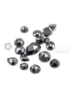 4.80 to 7.50 mm - Black Mix Shaped Rose Cut Diamonds  - 13.21 carats (FncyDiaRC1156)