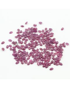 5 x 3 mm - Medium Red Oval Ruby Cabochons - 211 pieces - 66.81 carats (RuCab1003)