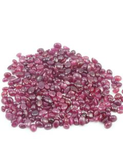6 x 4, 7 x 5, 8 x 6 mm - Medium Red Oval Ruby Cabochons - 351 pieces - 387.50 carats (RuCab1012)