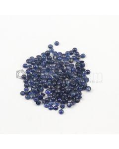 3.50 mm - Medium Blue Round Sapphire Cabochons - 181 pieces - 51.59 carats (SaCab1004)