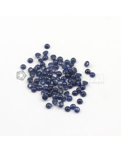 4 mm - Medium Blue Round Sapphire Cabochons - 87 pieces - 37.92 carats (SaCab1005)
