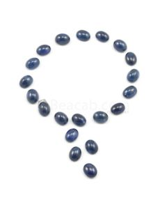 9 x 7 mm - Medium Blue Round Sapphire Cabochons - 20 pieces - 59.67 carats (SaCab1014)