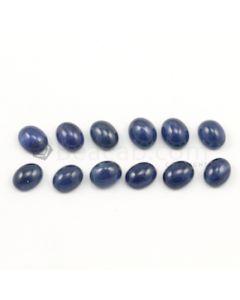 10 x 8 mm - Medium Blue Round Sapphire Cabochons - 12 pieces - 46.44 carats (SaCab1018)