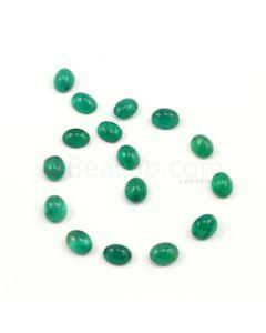 9 x 7 mm - Medium Green Oval Emerald Cabochons - 16 pieces - 30.14 carats (EmCab1009)