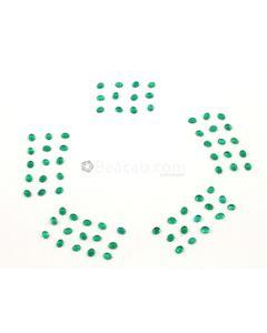 5 x 4 mm - Medium Green Oval Emerald Cabochons - 72 pieces - 24.76 carats (EmCab1022)