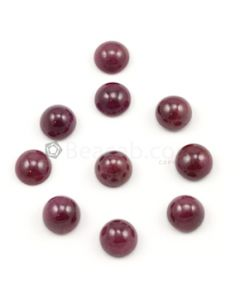 11 mm - Medium Red Ruby Round Shape Cabochons - 10 pieces - 77.78 carats (RuCab1107)
