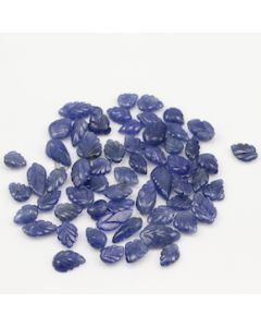 8.60 x 6.80 mm to 14.70 x 7.80 mm - Medium Blue Sapphire Leaf Shape - 59 Pieces - 132.05 carats (SCar1072)