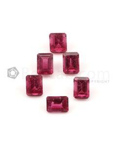 7.90 x 6.60 mm to 8.20 x 6.20 mm - Dark Pink Tourmaline Emerald Cut - 6 Pieces - 11.76 carats (ToCS1083)