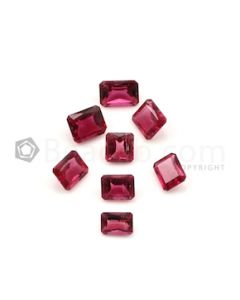 5.80 x 4 mm to 7.20 x 5.20 mm - Dark Pink Tourmaline Emerald Cut - 8 Pieces - 7.16 carats (ToCS1098)