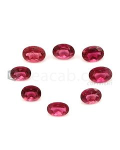7.50 x 5.50 mm to 8.50 x 6.40 mm - Dark Pink Tourmaline Oval Cut - 8 Pieces - 23.85 carats (ToCS1126)