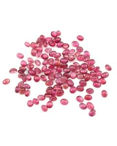 4.20 x 3.20 mm to 6 x 4 mm - Medium Pink Tourmaline Oval Cabochons - 111 Pieces - 37.55 carats (ToCab1019)