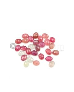 8 x 6.30 mm - Medium Tones Multi-Sapphire Oval Rose Cut Gemstones - 28 Pieces - 52.48 carats (MSRC1006)