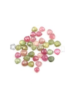 6.30 x 6 mm to 7.50 x 7.70 mm - Medium Tones Multi-Sapphire Pear Rose Cut Gemstones - 35 Pieces - 54.50 carats (MSRC1018)