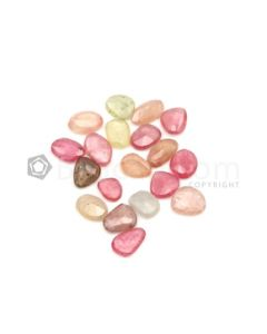 8.80 x 6.50 mm to 10.70 x 7 mm - Medium Tones Multi-Sapphire Mix Rose Cut Gemstones - 19 Pieces - 37.50 carats (MSRC1042)