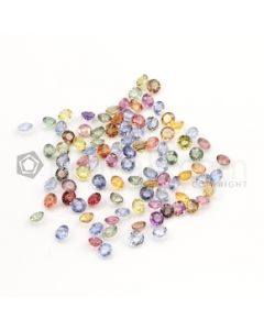 4 mm - Medium Tones Multi-Sapphire Round Cut Stones - 93 Pieces - 32.62 carats (MSCS1013)