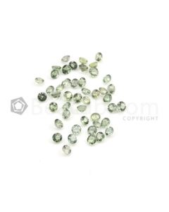 4 mm - Medium Green Multi-Sapphire Round Cut Stones - 46 Pieces - 17.95 carats (MSCS1016)