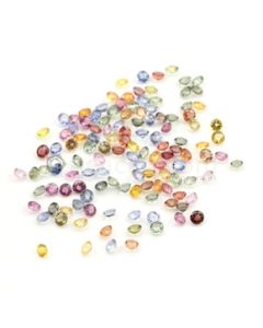 4 mm - Medium Tones Multi-Sapphire Round Cut Stones - 125 Pieces - 44.83 carats (MSCS1017)