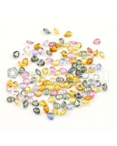 5 x 4 mm - Medium Tones Multi-Sapphire Pear Cut Stones - 119 Pieces - 47.42 carats (MSCS1040)